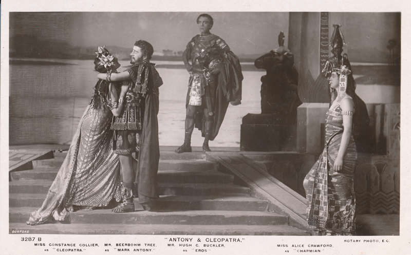 "Constance Collier as Cleopatra, Herbert Beerbohm Tree as Antony, Hugh C. Buckler as Eros, and Alice Crawford as Charmian in ""Antony and Cleopatra"""