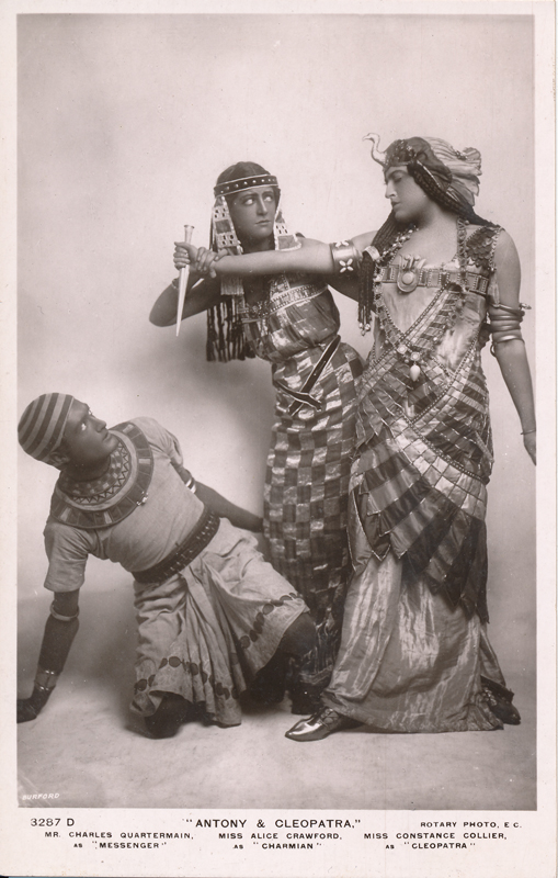 "Charles Quartermain as Messenger, Alice Crawford as Charmian, and Constance Collier as Cleopatra in ""Antony and Cleopatra"""