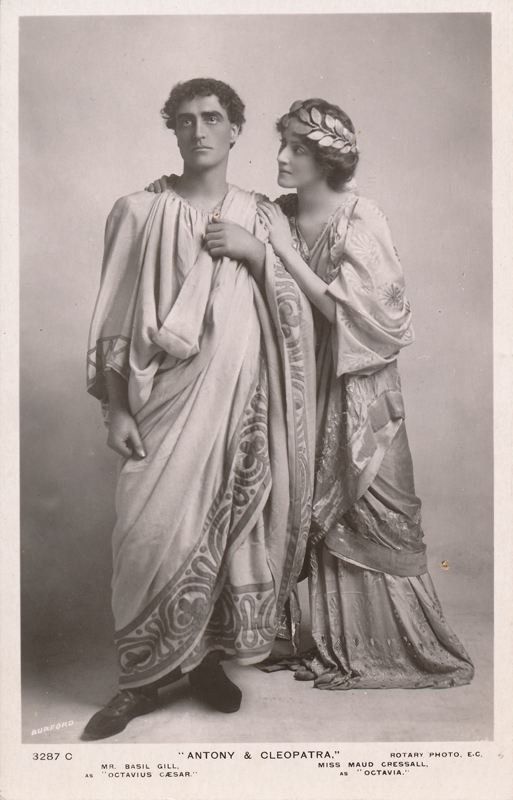 "Basil Gill as Octavius Caesar and Maud Cressall as Octavia in ""Antony and Cleopatra"""