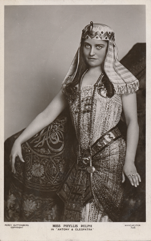 "Miss Phyllis Relph as a character in ""Antony and Cleopatra"""