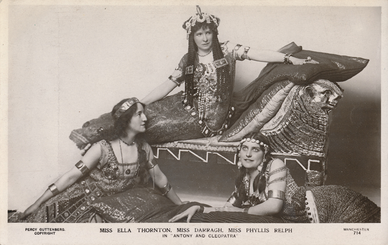 "Ella Thornton, Miss Darragh as Cleopatra, and Phyllis Relph in ""Antony and Cleopatra"""