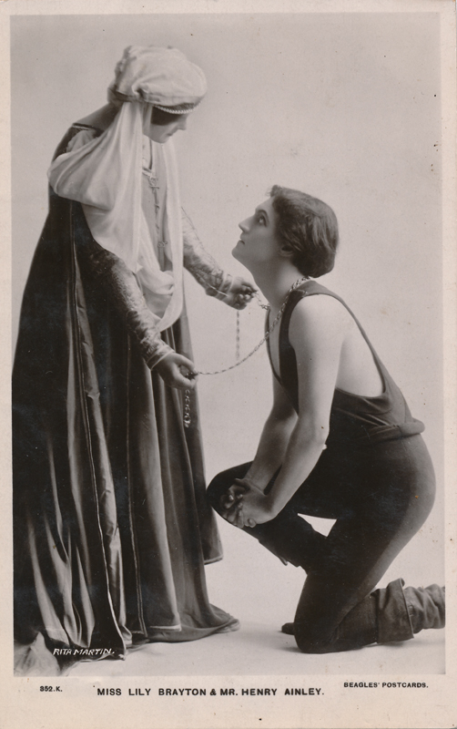 "Lily Brayton as Rosalind and Henry Ainley as Orlando in ""As You Like It"""