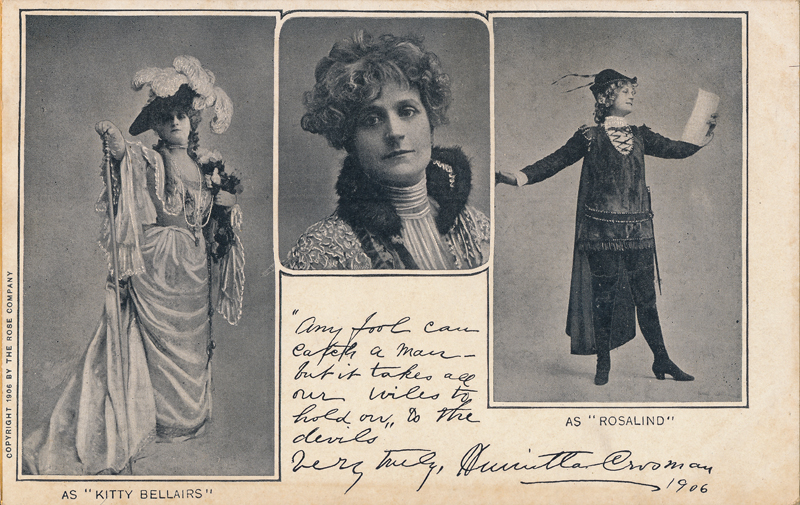 "Henrietta Crosman as Rosalind in ""As You Like It"""