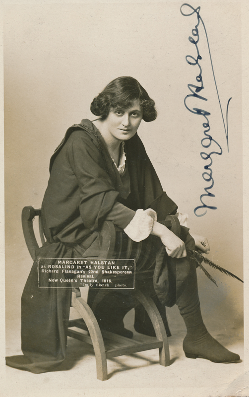 "Margaret Halstan as Rosalind in ""As You Like It"""