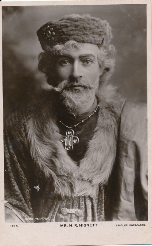 "H. R. Highnett as Duke Senior in ""As You Like It"""