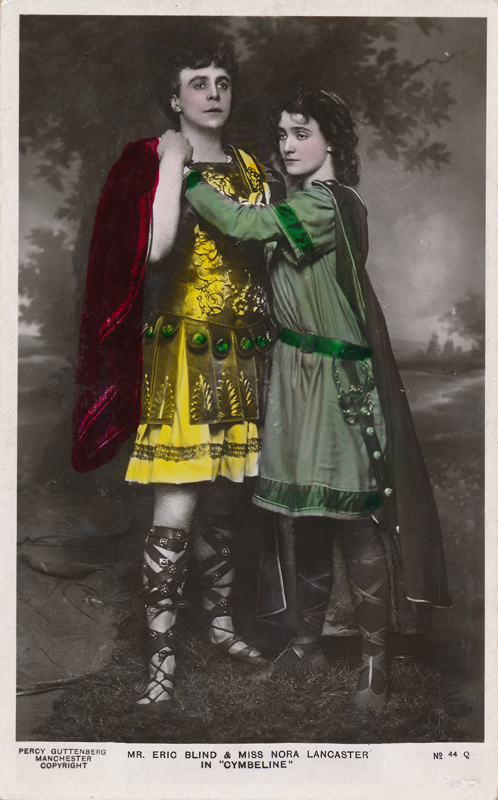 "Nora Lancaster as Imogen and Eric Blind as Posthumus in ""Cymbeline"""