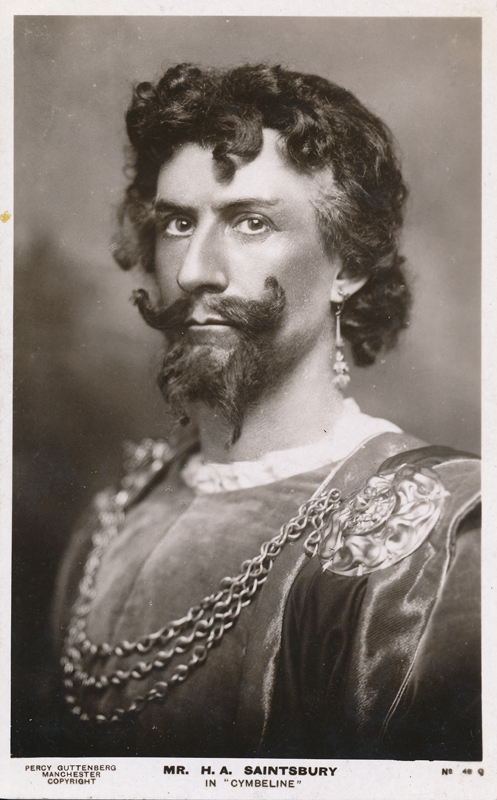 "H. A. Saintsbury as a character in ""Cymbeline"""