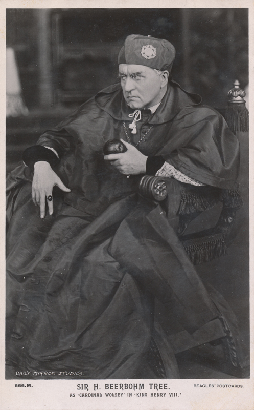 "Sir Herbert Beerbohm Tree as Cardinal Wolsey in ""Henry VIII"""