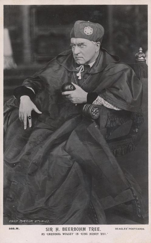 """Sir Herbert Beerbohm Tree as Cardinal Wolsey in """"Henry VIII"""""""