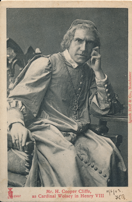 "H. Cooper Cliffe as Cardinal Wolsey in ""Henry VIII"""