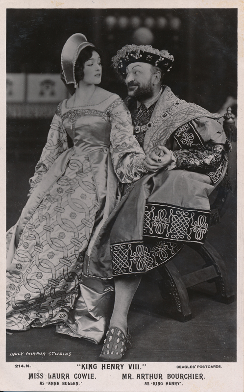 "Laura Cowie as Anne Bullen and Arthur Bourchier as King Henry in ""Henry VIII"""