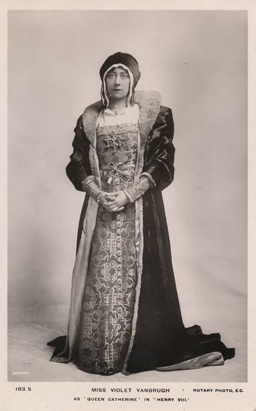 "Violet Vanbrugh as Queen Katherine in ""Henry VIII"""