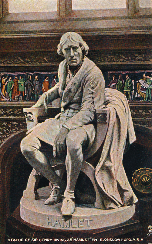 "Statue of Sir Henry Irving as Hamlet in ""Hamlet"""