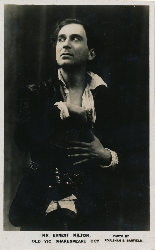 """Ernest Milton as Hamlet in """"Hamlet"""""""