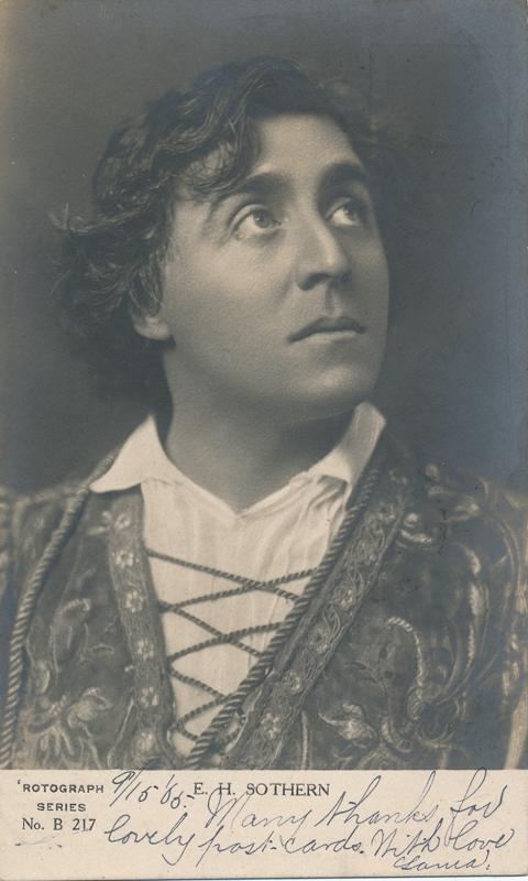 """E. H. Sothern as Hamlet in """"Hamlet"""""""