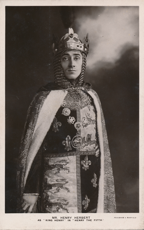 "Mr. Henry Herbert as King Henry in ""Henry the Fifth"""