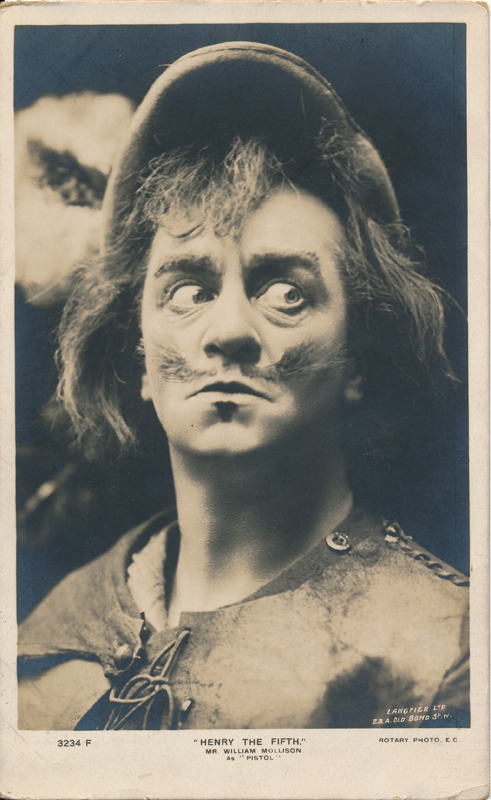 "William Mollison as Pistol in ""Henry the Fifth"""