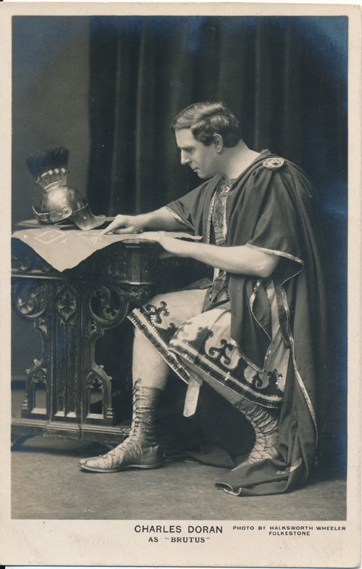 "Charles Doran as Brutus in ""Julius Caesar"""