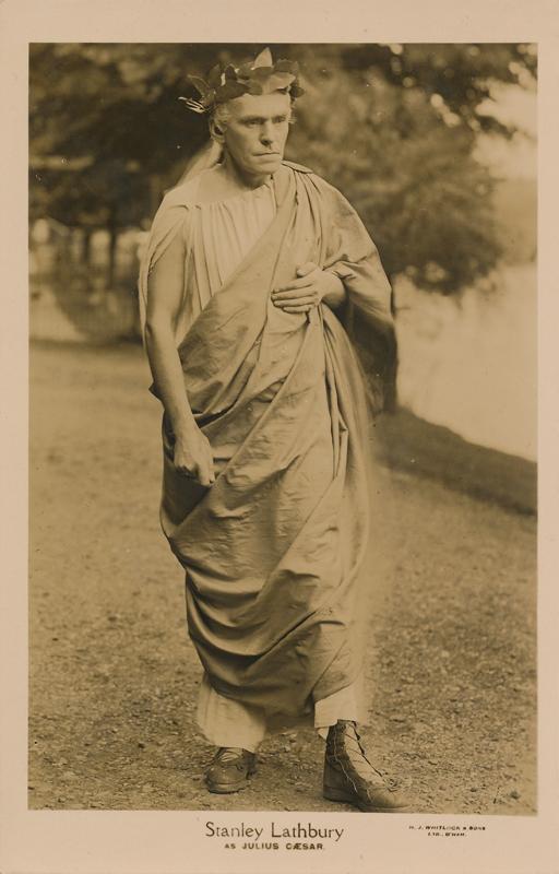 "Stanley Lathbury as Caesar in ""Julius Caesar"""