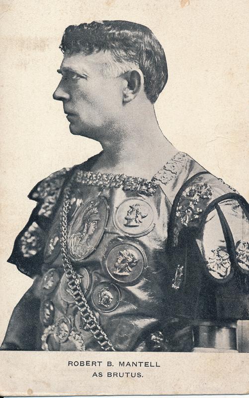 """Robert B. Mantell as Brutus in """"Julius Caesar"""""""