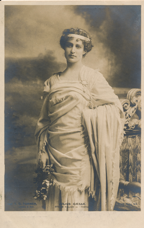 "Evelyn Millard as Portia in ""Julius Caesar"""