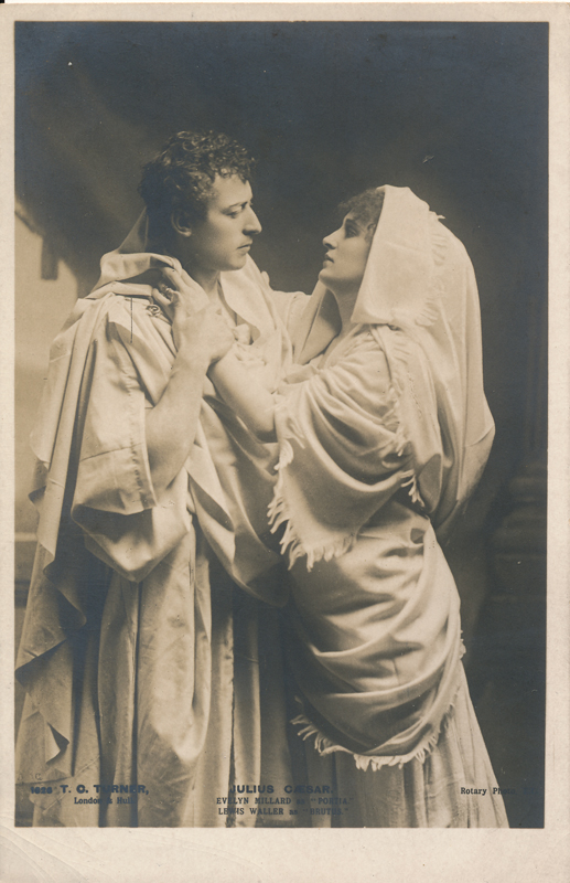 "Evelyn Millard as Portia, Lewis Waller as Brutus in ""Julius Caesar"""