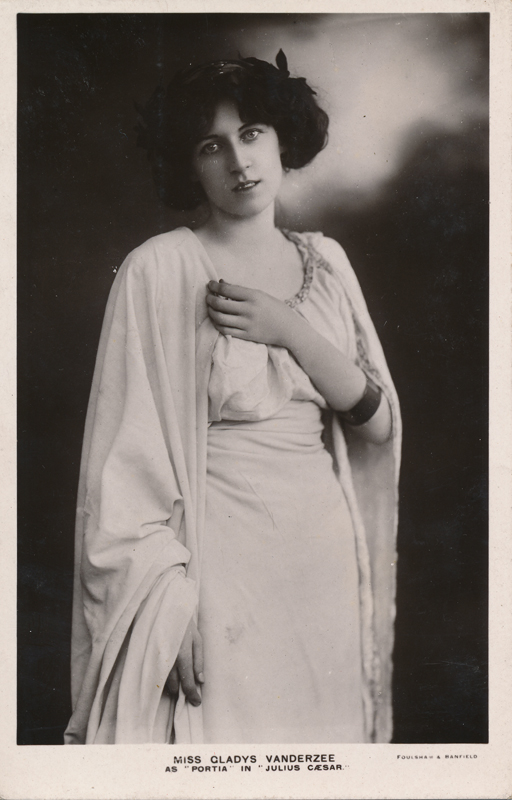 "Miss Gladys Vanderzee as Portia in ""Julius Caesar"""
