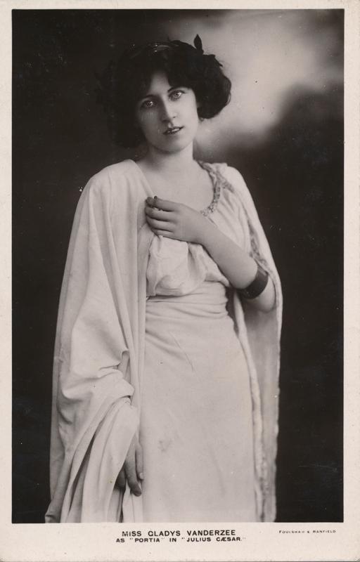 """Miss Gladys Vanderzee as Portia in """"Julius Caesar"""""""