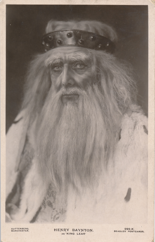 Henry Baynton as King Lear in King Lear