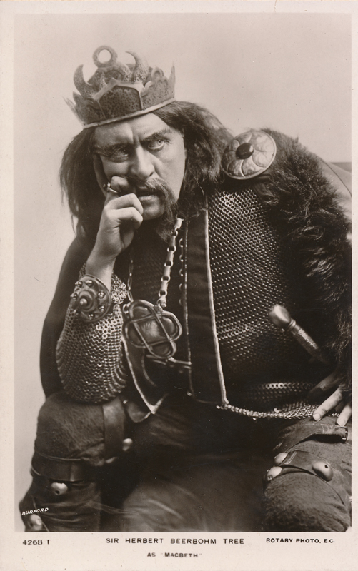 "Sir Herbert Beerbohm Tree as Macbeth in ""Macbeth"""