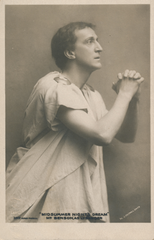 "Frank Benson as Lysander in ""A Midsummer Night's Dream"""