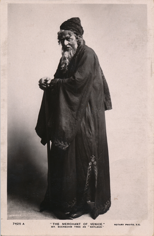 "Herbert Beerbohm Tree as Shylock in ""The Merchant of Venice"""