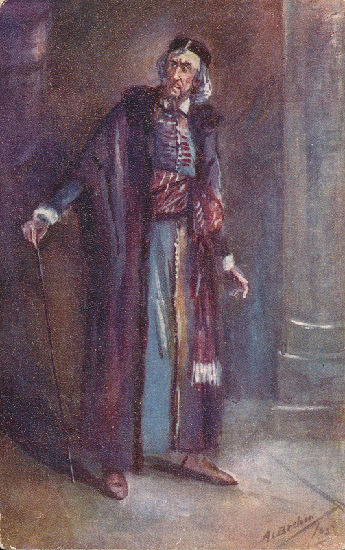 "Sir Henry Irving as Shylock in ""The Merchant of Venice"""