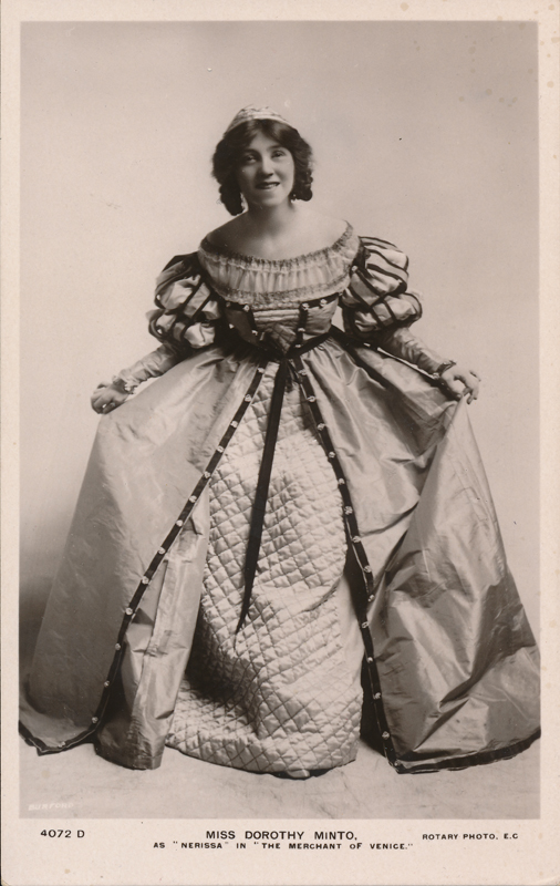 "Dorothy Minto as Nerissa in ""The Merchant of Venice"""