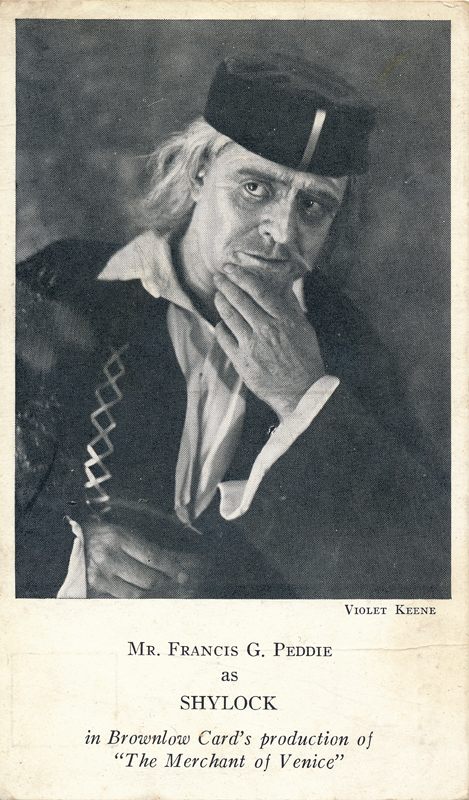 "Francis G. Peddie as Shylock in ""The Merchant of Venice"""