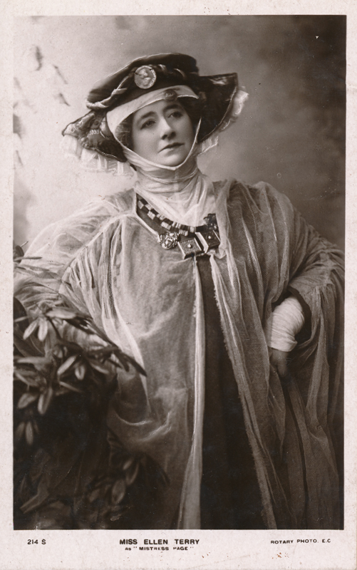 "Ellen Terry as Mistress Page in ""The Merry Wives of Windsor"""