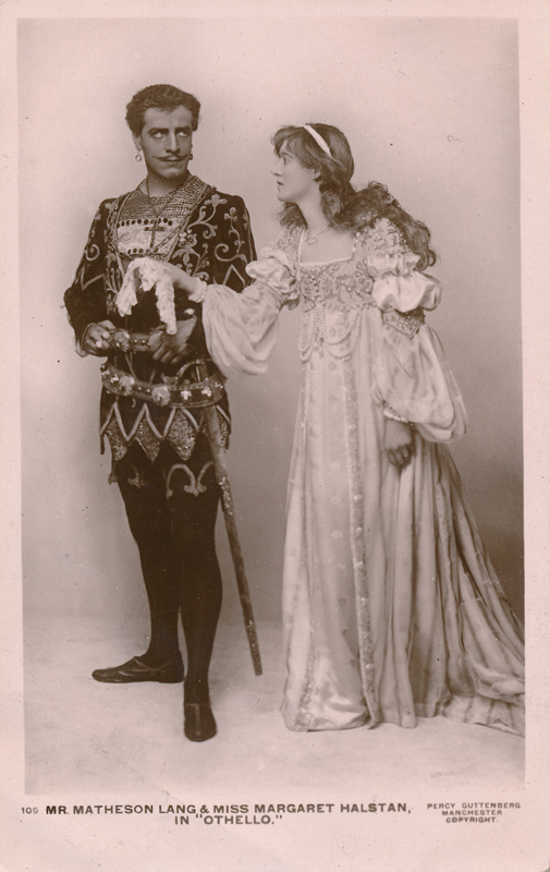 "Matheson Lang as Othello and Margaret Halstan as Desdemona in ""Othello"""