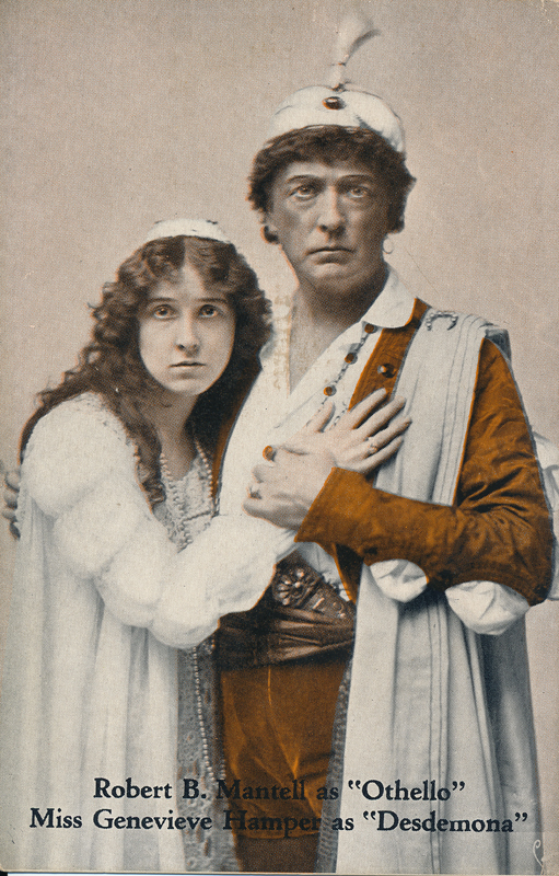 "Robert B. Mantell as Othello and Genevieve Hamper as Desdemona in ""Othello"""
