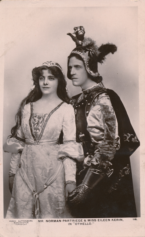 "Norman Partriege as Cassio and Eileen Kerin as Bianca in ""Othello"""