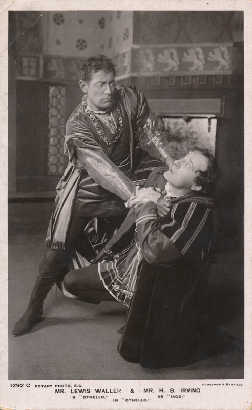 "Lewis Waller as Othello and H. B. Irving as Iago in ""Othello"""