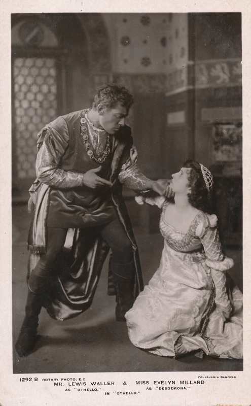 "Lewis Waller as Othello and Evelyn Millard as Desdemona in ""Othello"""