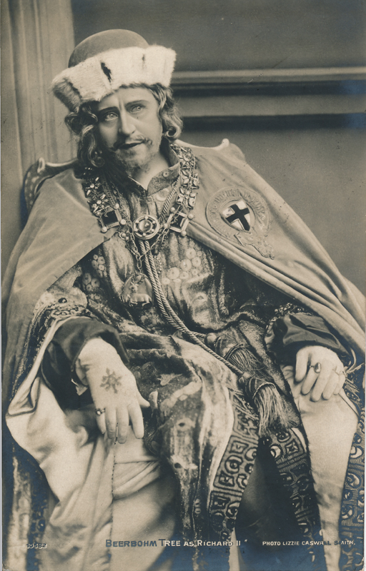 "Herbert Beerbohm Tree as Richard II in ""Richard II"""