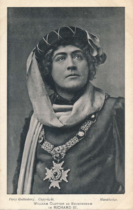 "William Clayton as Buckingham in ""Richard III"""
