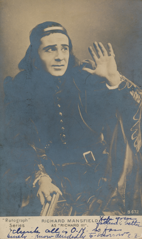 "Richard Mansfield as Richard III in ""Richard III"""