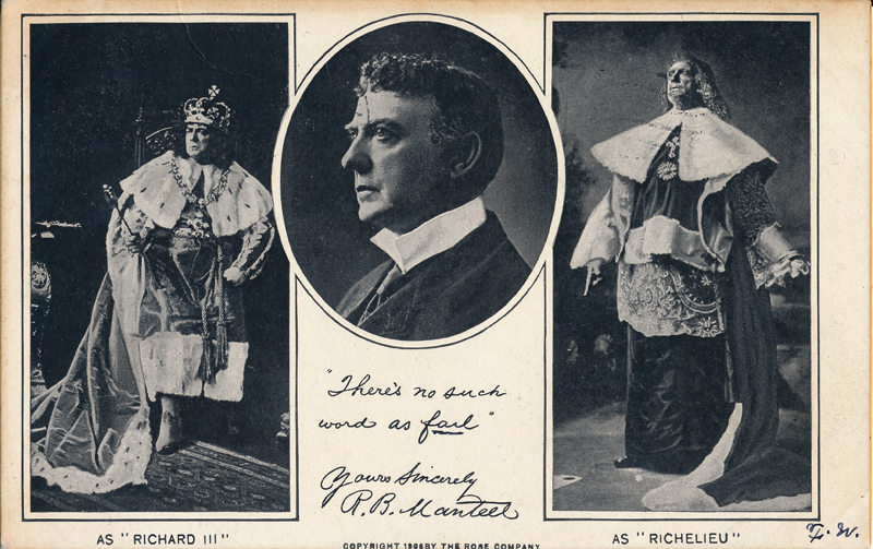 "Robert B. Mantell as Richard III in ""Richard III"""