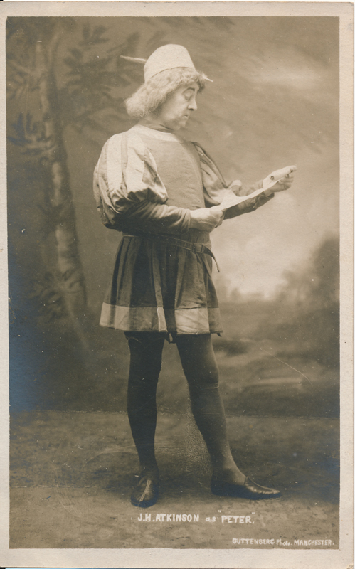 "J. H. Atkinson as Peter in ""Romeo and Juliet"""