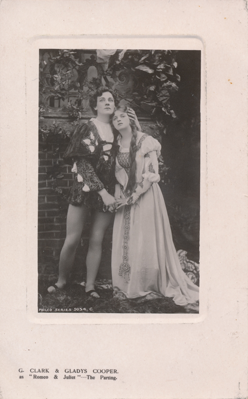 "George Clarke as Romeo and Gladys Cooper as Juliet in ""Romeo and Juliet"""