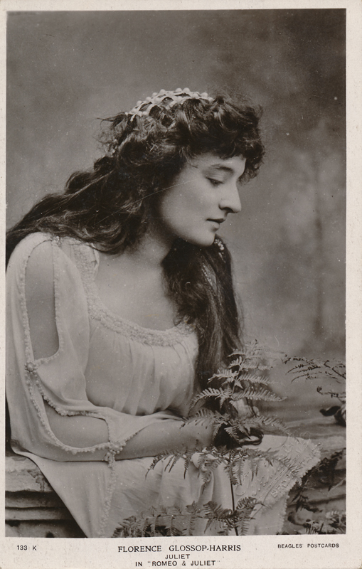 "Florence Glossop-Harris as Juliet in ""Romeo and Juliet"""