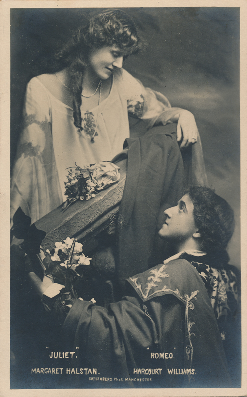 """Ernest Harcourt Williams as Romeo and Margaret Halstan as Juliet in """"Romeo and Juliet"""""""