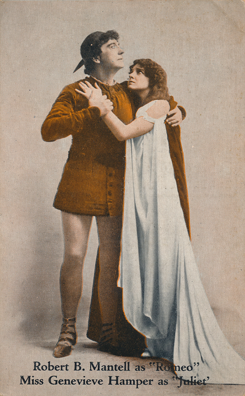 "Robert B. Mantell as Romeo and Genevieve Hamper as Juliet in ""Romeo and Juliet"""